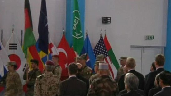 The war came to a formal end Sunday with a ceremony in Kabul. Photo: NBC
