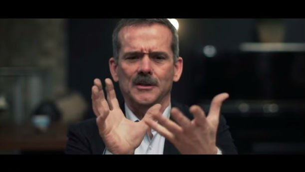 Chris Hadfield wants you to stay positive in the new year. Photo: YouTube