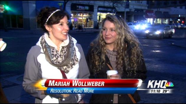 People in downtown Spokane talk about their goals for the New Year