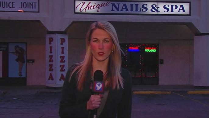 Reporter Kim Powell raps. Photo: YouTube