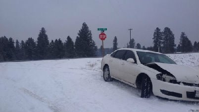 Bad weather caused more than 30 crashes in Spokane County.