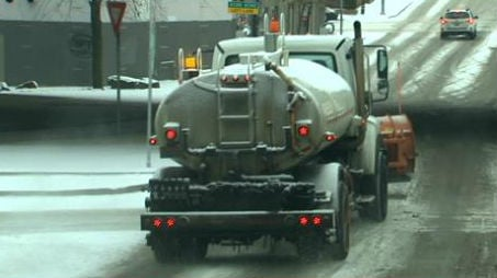 The snow came earlier than expected on Friday, causing slowing for the morning commute.