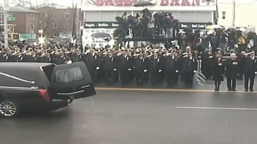 Officer Wenjian Liu's funeral takes place today. Photo: NBC