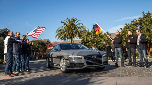 Audi A7 leaves Silicon Valley