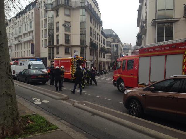 © On scene of Paris newspaper shooting.