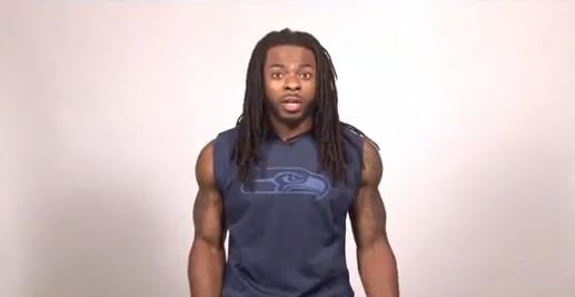 Richard Sherman looks shocked the deadline to enroll in affordable health insurance is approaching