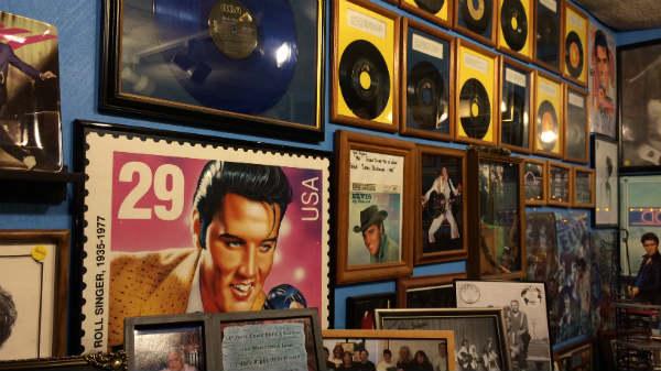 Elvis turned 80 Thursday, and Hultquist celebrated amongst her plethora of memorabilia.