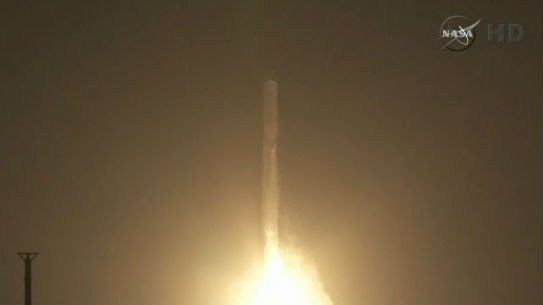 The SpaceX company successfully launched supplies early this morning. Photo: NBC