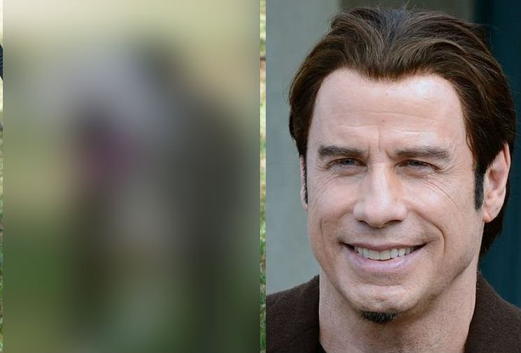 An animal rescue in Australia has a dog for adoption that looks just like John Travolta (PHOTOS: Blurred photo of Boof from SA DOG RESCUE on Facebook, and Photo of John Travolta cropped from Georges Biard/Creative Commons 3.0)
