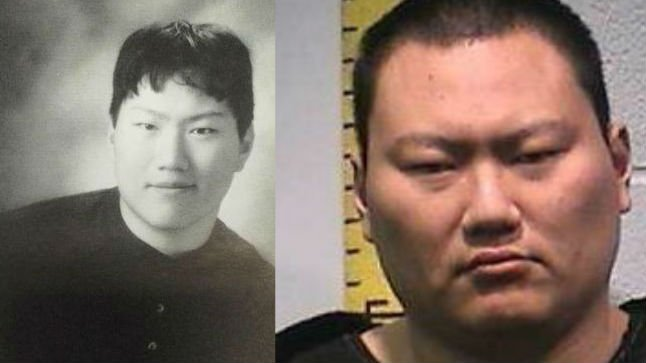 John Lee seen in 2004 (left) graduated from Moscow High School. He now faces three counts of First Degree Murder in Latah County after a shooting spree on Saturday. His mugshot from Whitman County is seen on the right.