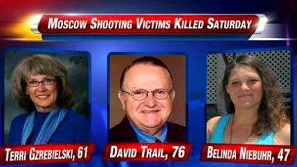 The three people killed in a shooting spree in Moscow Idaho on Saturday.