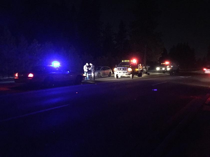 Car crash on 16th and Dishman Mica.