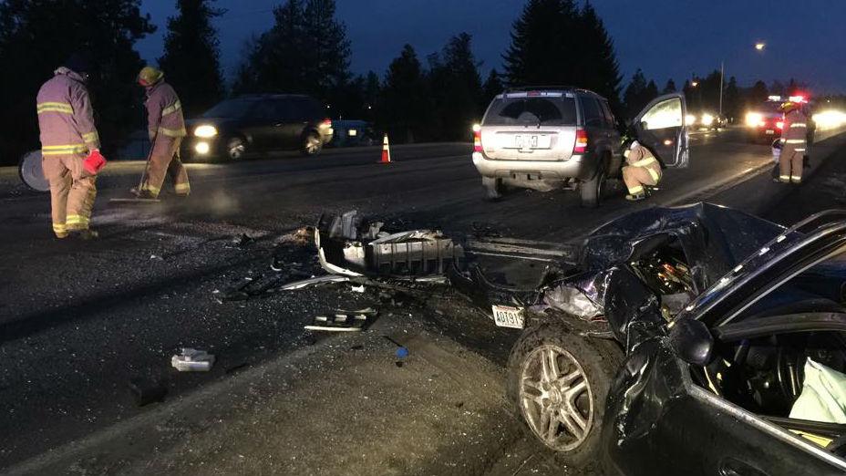 Head on car crash