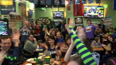 Seahawks fans show their 12th Man pride.