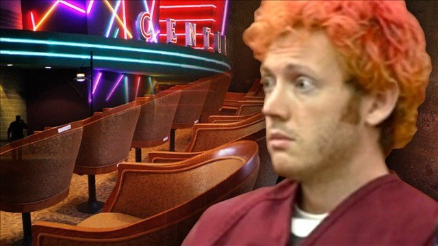 Theater shooting defendant James Holmes sat quietly and leaned back in his chair in court on Tuesday as jury selection begins in his trial over the shooting that killed 12 people and injured 70 in an Aurora, Colorado, movie theater.