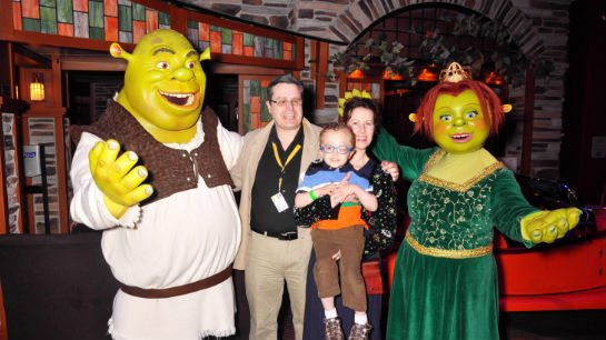 Tito's wish came true when he went on a five-day Western Caribbean cruise with the Dreamworks characters Shrek and Princess Fiona, Alex, King Julian, and many more.