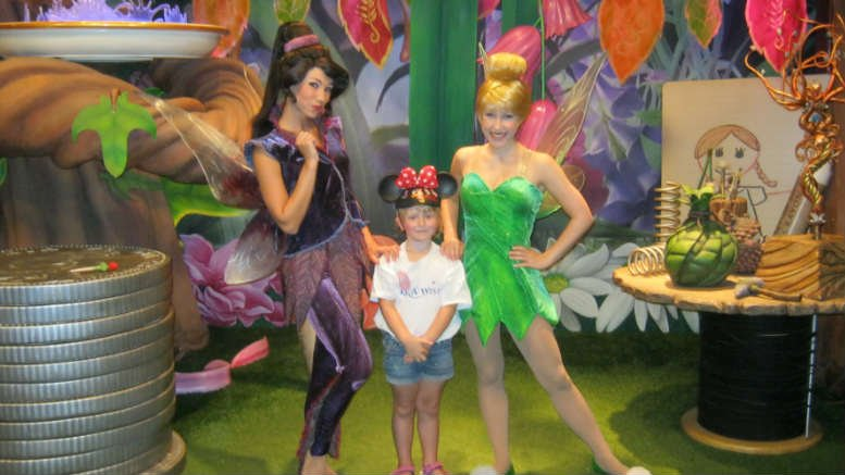 . Sophia's wish was to go to Disney World to meet the Princesses.