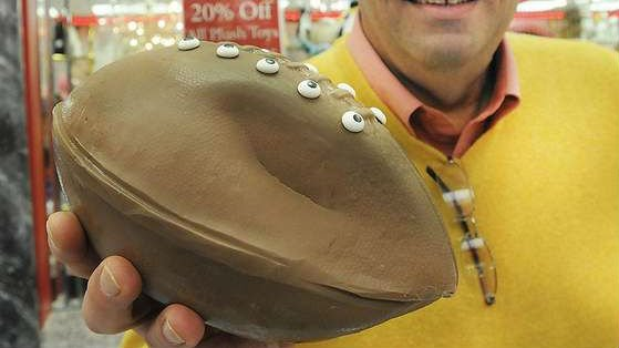 """Deflategate football"" made out of chocolate"