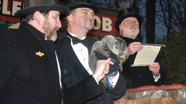 The handlers of Pennsylvania's most famous groundhog, Punxsutawney Phil, say the furry rodent has forecast six more weeks of winter.