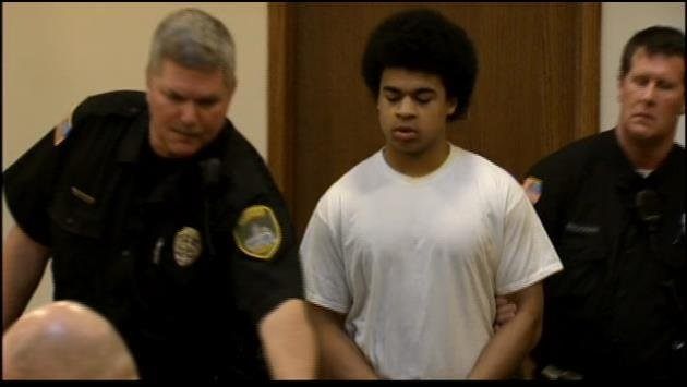 17-year-old Kenan Adams Kinard walks into court during his plea hearing in January
