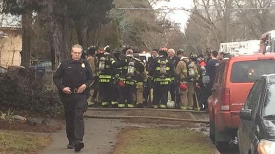 The scene of a fatal house fire in Spokane.