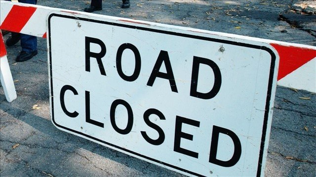 The westbound lanes of Interstate 90 are closed near the Montana-Idaho border due to a rock slide.