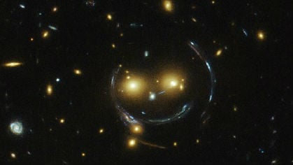NASA's smiley face galaxy cluster. Photo: NASA/ESA