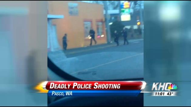 Cell phone video captures officer involved shooting