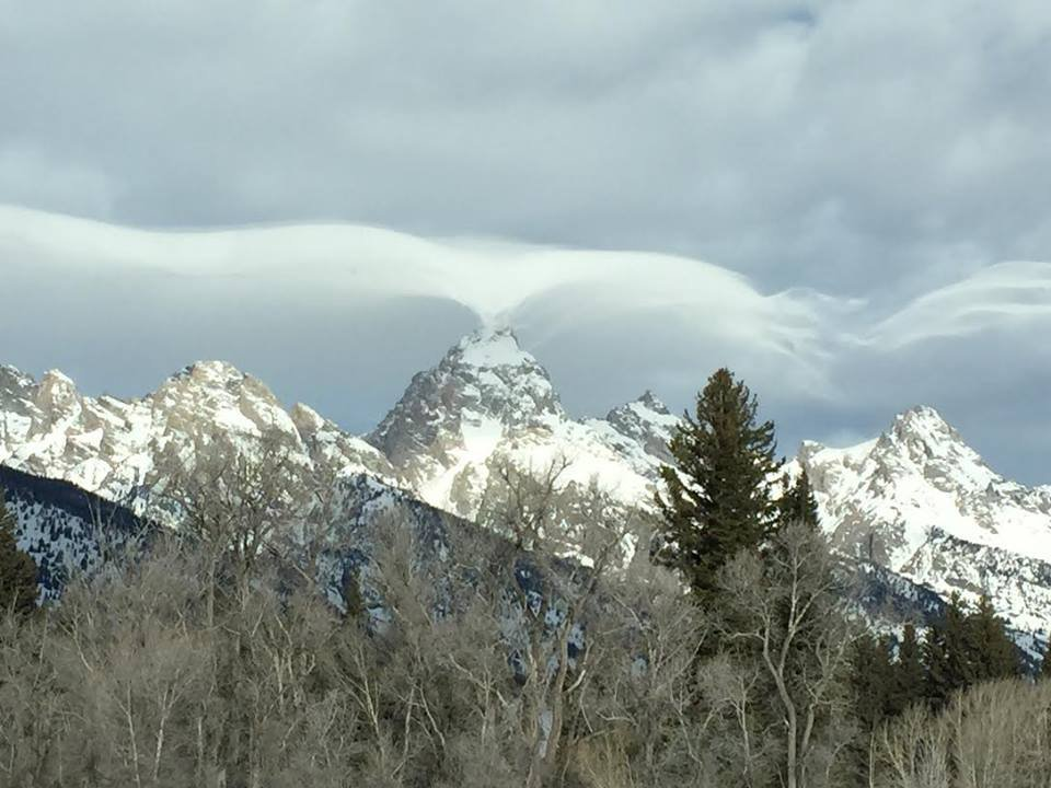 Mysterious clouds over Grand Teton National Park.