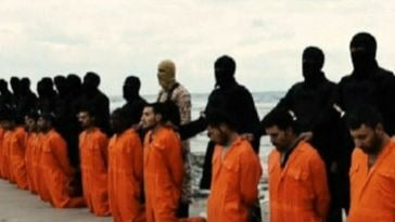 The United States is condemning the purported killing of 21 Egyptians by militants. Photo: NBC