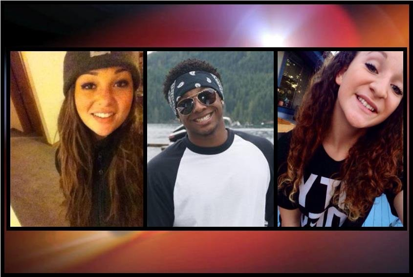 16-year-old Kassidy Clark, 18-year-old Luther Stoudermire, and 14-year-old Jenna Farley