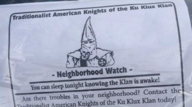 One of the flyers found in a Spokane Valley neighborhood.