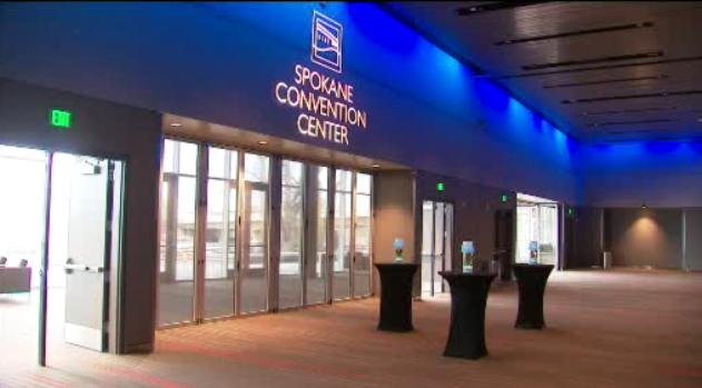 Just inside the new Spokane Convention Center