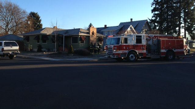 Firefighters on scene of a structure fire in northwest Spokane near Audubon Elementary