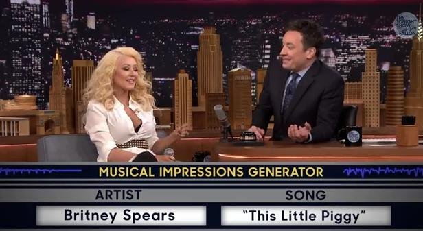 Christina Aguilera nailed this impression on The Tonight Show With Jimmy Fallon (PHOTO/VIDEO: Youtube/The Tonight Show With Jimmy Fallon)
