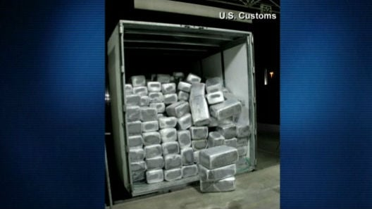 Federal authorities have seized more than 15 tons of marijuana in a near-record bust at a border crossing in Southern California. Photo: NBC