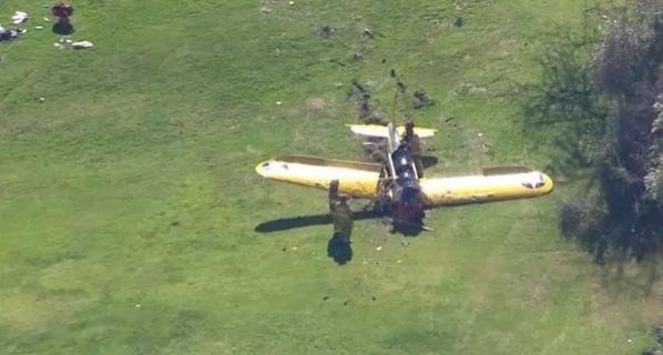 Police say Harrison Ford was piloting this plane that crashed on a California golf course