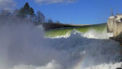 The falls are roaring during this warm March (PHOTO: Sky Belieu)
