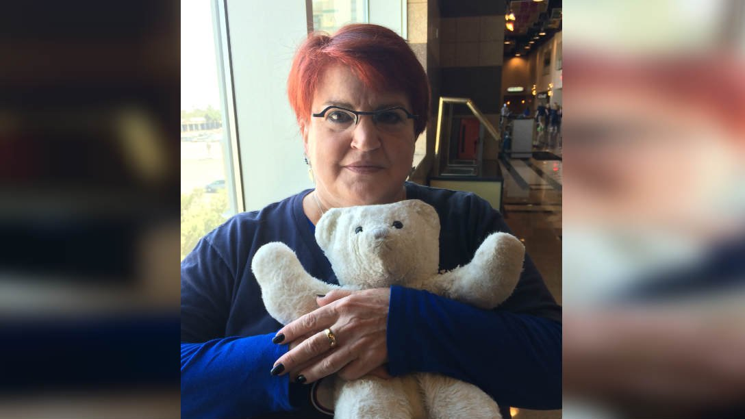 Beth Hope attends games with a stuffed animal that reminds her of her daughter Jessica, who died 19 years ago.