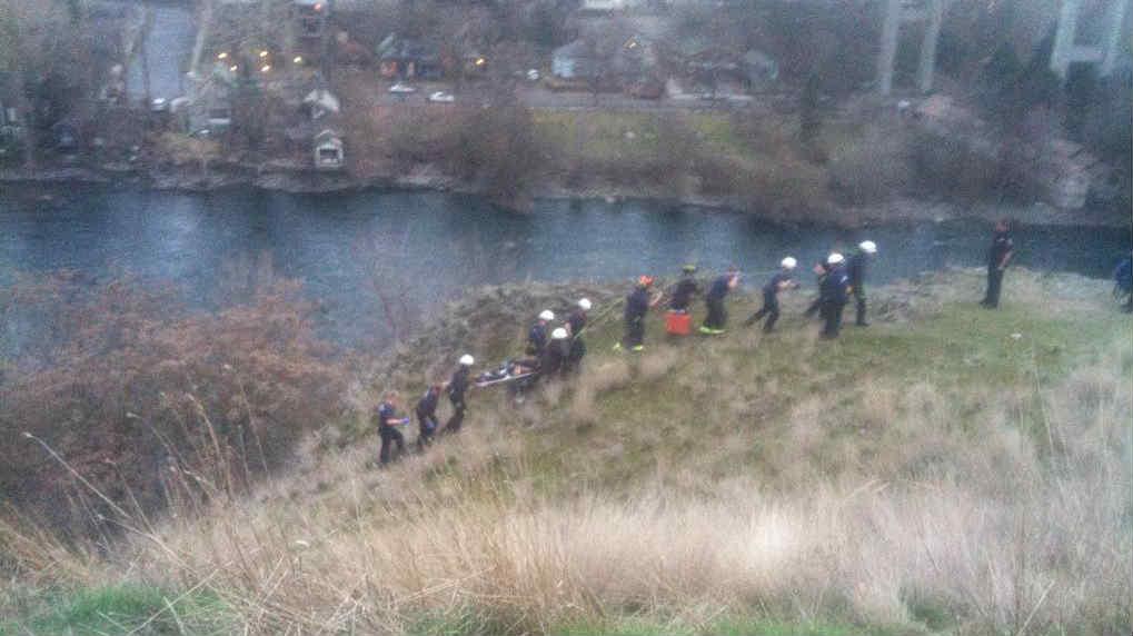 Crews work to save boy that fell 20-30 ft. rock climbing