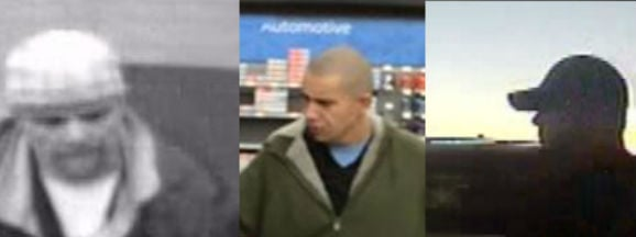 Kootenai County Police say these three men are all suspects in thefts at the Walmart in Hayden