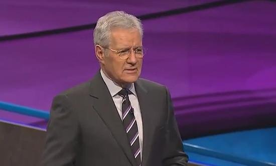 Alex Trebek looks dumbfounded on a recent episode of Jeopardy! (PHOTO/VIDEO: YouTube/TNB)