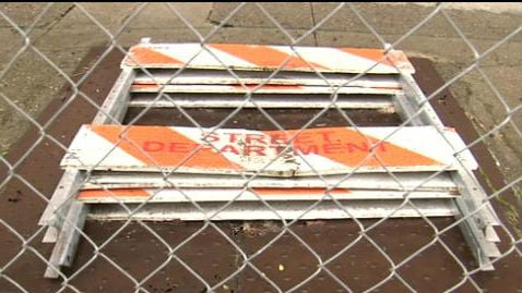 The city of Spokane is working to fill old basement vaults.