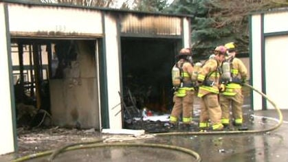 Firefighters responded to a garage fire Monday evening.