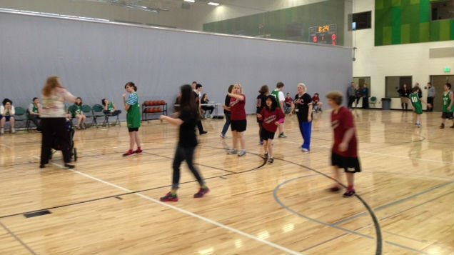 Close to 70 of these talented, special needs students took to the court at Salk Middle School for the annual Special Athletes Basketball Tournament.
