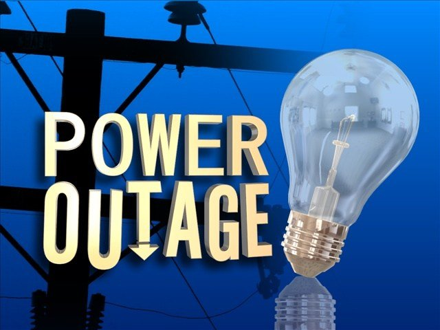Some people are without power Monday night.