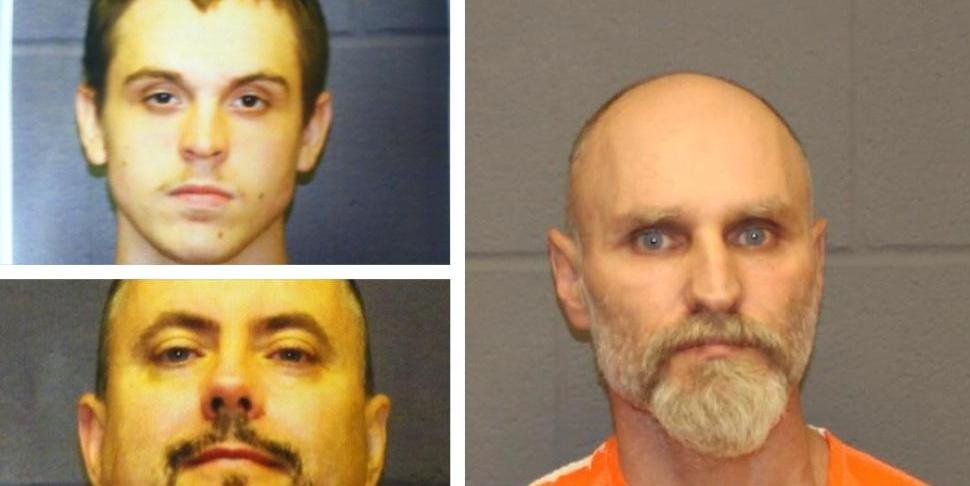 Michael Kramer and Michael Hall  have both been charged with felony aiding and abetting Roy Bieluch (RIGHT)