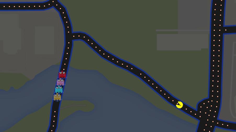 Pac-Man in Riverfront Park! (PHOTO: Google Maps)