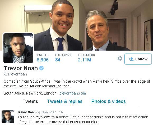 Trevor Noah's Twitter