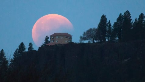 Craig Goodwin snapped this shot of the partial umbral eclipse over Arbor Crest winery in Spokane.